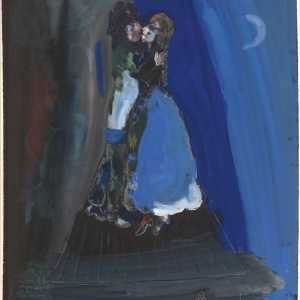 Marc Chagall, The Lovers on the Roof, ca. 1927, gouache on paper. Royal Museums of Fine Arts of Belgium, Brussels, inv. 4933