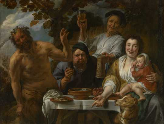 Jacques Jordaens, Le satyre et le paysan, (ca. 1640-1645), photo : J. Geleyns - Art Photography, © MRBAB 2018