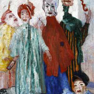 James Ensor, Zonderlinge maskers, 1892