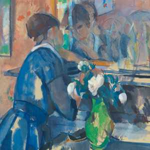 Rik Wouters, De dame in blauw