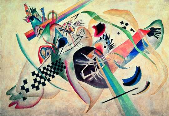 "Wassily Kandinsky : ""Composition sur fond blanc"", 1920"