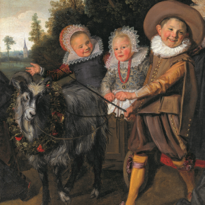 Frans Hals – Three Children with a Goat Cart