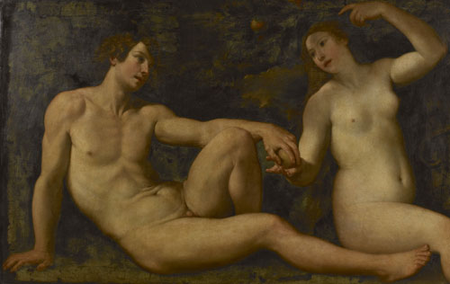 Francesco Albani : Adam en Eva in het aards paradijs