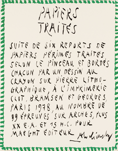 Pierre Alechinsky : Papiers traités