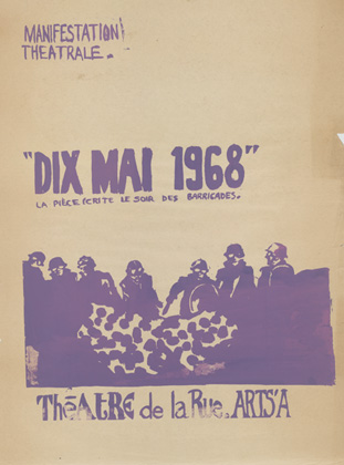 Mai '68 - Anonyme : Manifestation théâtrale