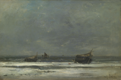 Louis Artan de Saint-Martin : Winter te Berck