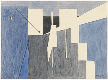 Gaston Bertrand : Architecture bleue