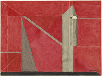 Gaston Bertrand : Architecture rouge