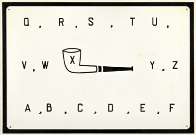 Marcel Broodthaers : Quatre pipes alphabet