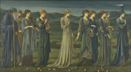 De bruidsstoet van Psyche - sir Edward Coley Burne-Jones