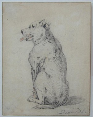 Jan Dasveldt : Chien assis