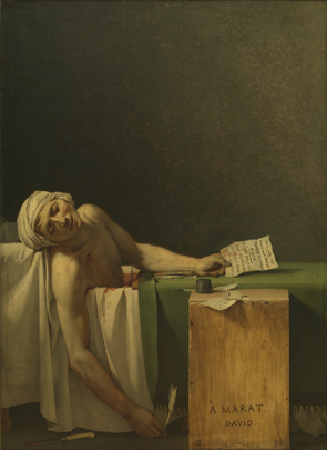 Jacques-Louis David : Marat assassiné