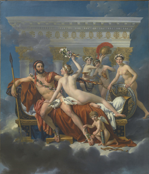Mars wordt ontwapend door Venus - Jacques-Louis David