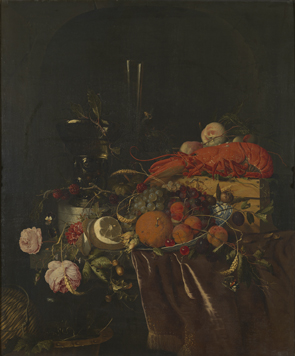 Jan Davidsz. de Heem (entourage de) : Nature morte au homard