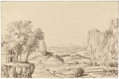 Pieter de With : Vallée entre des rochers escarpés
