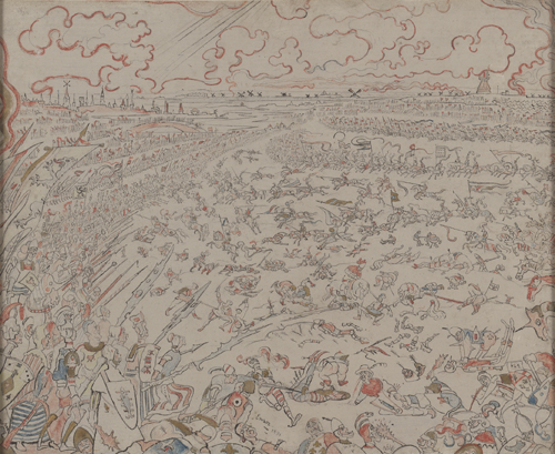 James Ensor : La Bataille des Eperons d'or