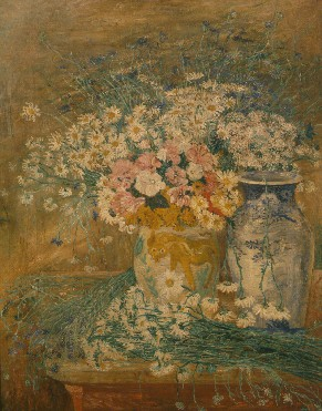 James Ensor : Bloemen en Chinese vazen