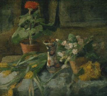James Ensor : Stilleven met geranium