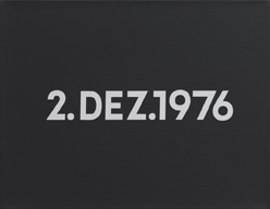 On Kawara : 2. DEZ. 1976