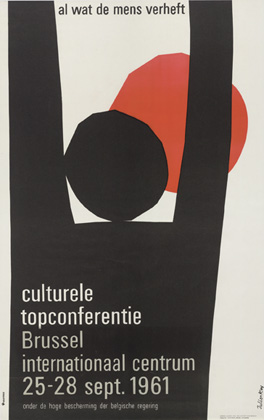 Julian Key (Julien Keymolen) : Al wat de mens verheft, culturele topconferentie (Brussel, internationaal centrum, 25.09 - 28.09.1961)