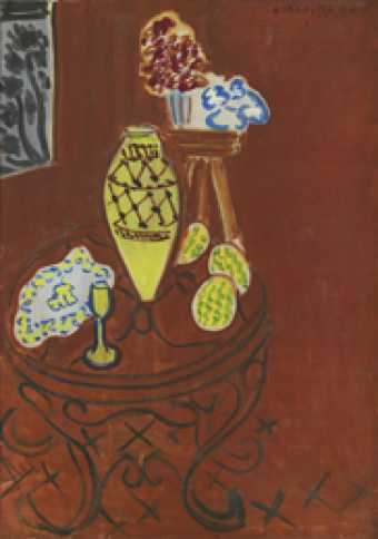 Uvre nature morte int rieur rouge de venise mus es for Interieur rouge matisse