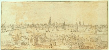 Jan Peeters I : Vue de la rade d'Anvers