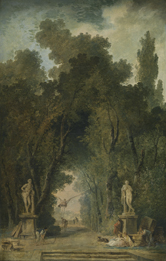 Wandeldreef in een park - Hubert Robert