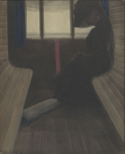 Léon Spilliaert : La dame dans le train