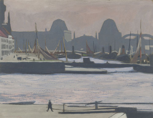 Léon Spilliaert : Port de pêche, (Bassins de commerce), Ostende
