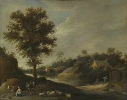 David II Teniers : Landschap