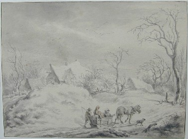 Egbert van Drielst : Winterlandschap